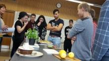 Schüler kochen biologisch